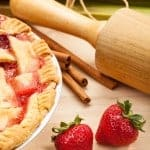 This Easy Strawberry Rhubarb Pie recipe means Spring will be here soon! The tangy combination of sweet strawberries and tart rhubarb is the best, and the delicious filling is nestled in our perfect flaky pie crust!