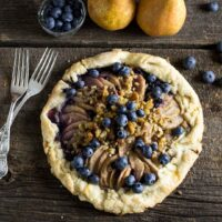Rustic Pear Galette With Blueberries