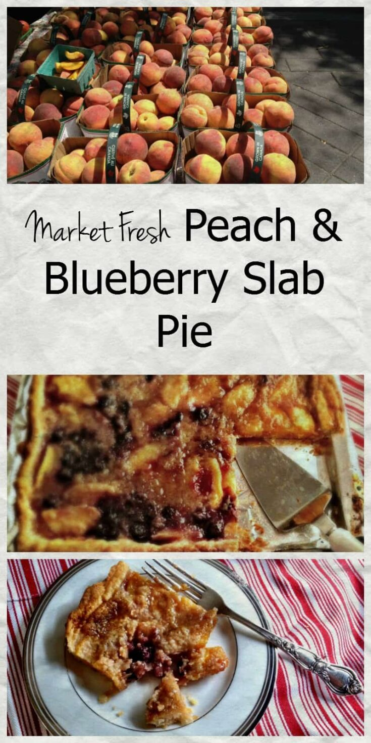 Have you made a slab pie yet? The juicy goodness of peaches and golden buttery pastry just make your mouth water! Am I right?
