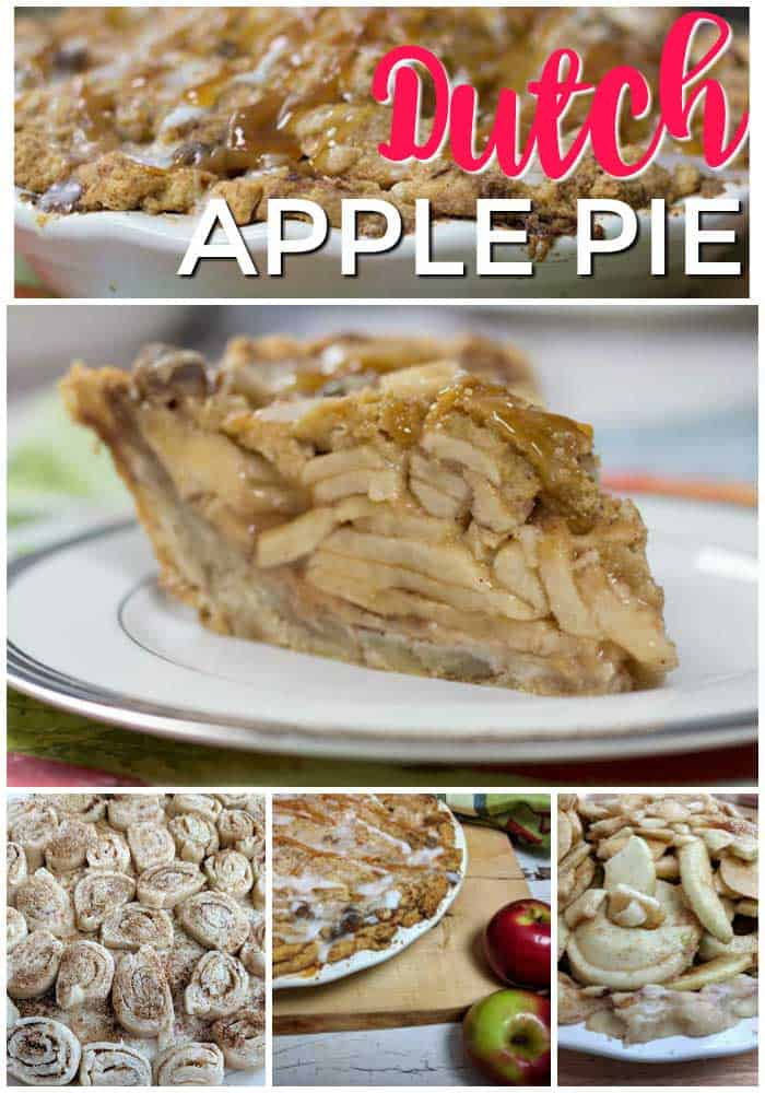 Dutch apple pie collage