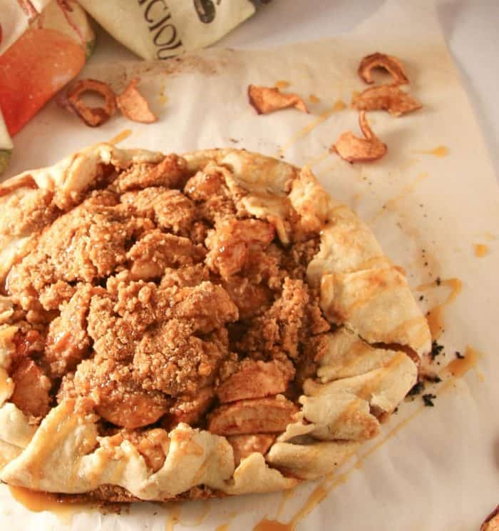 Harvest Apple Galette is a quick and easy dessert!
