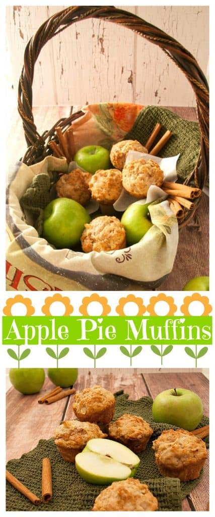 An easy apple pie muffin recipe that will become your GO TO for BREAKFAST! Healthy, wholesome, with homemade apple pie filling, a great freezer recipe.