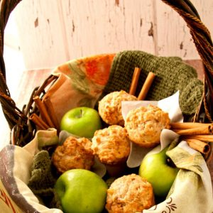 An easy apple pie muffin recipe that will become your GO TO for BREAKFAST! Healthy, wholesome, full of flavor, a great freezer recipe.
