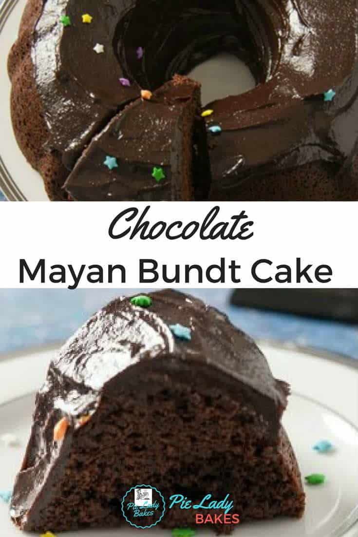 Chocolate Mayan Bundt Cake is an easy to make dessert, richly full of flavor, smoky chocolate goodness and a teeny bit of spice. DELICIOUS!