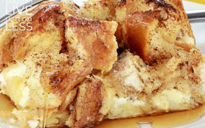 Overnight French Toast Casserole {Cinnamon Raisin!}