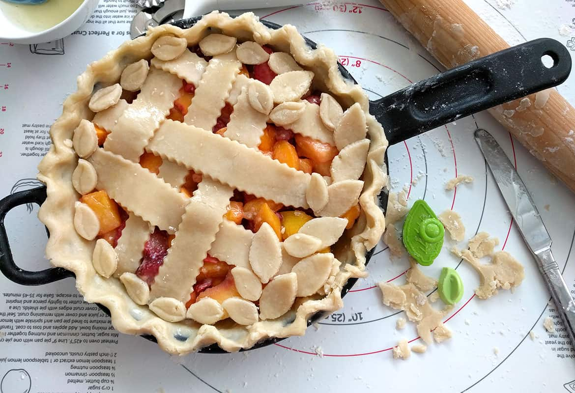 This Is The Best Peach Mango Pie And So Easy To Make