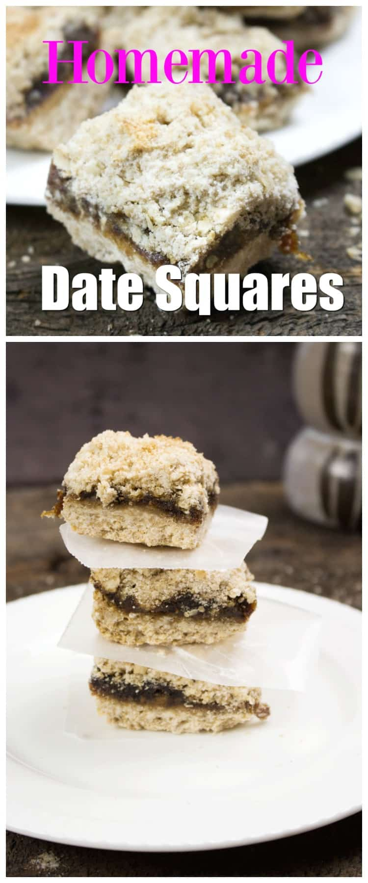 This homemade date squares recipe is a vegan dessert packed with the sweetness of dates combined with a crunchy & crumbly topping is a long standing family favorite. One of these these yummy Date Squares warm from the oven & a glass of milk makes a great afternoon snack. This recipe is so easy & freezes well too!