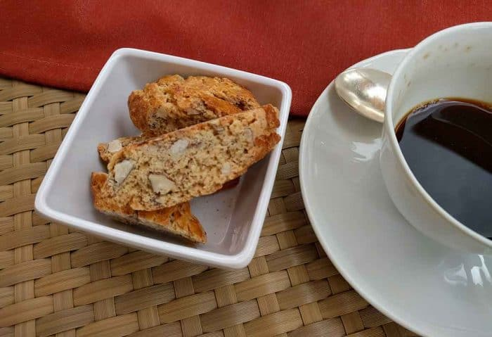 coffee and cantucci toscani, castello del nero, tuscany
