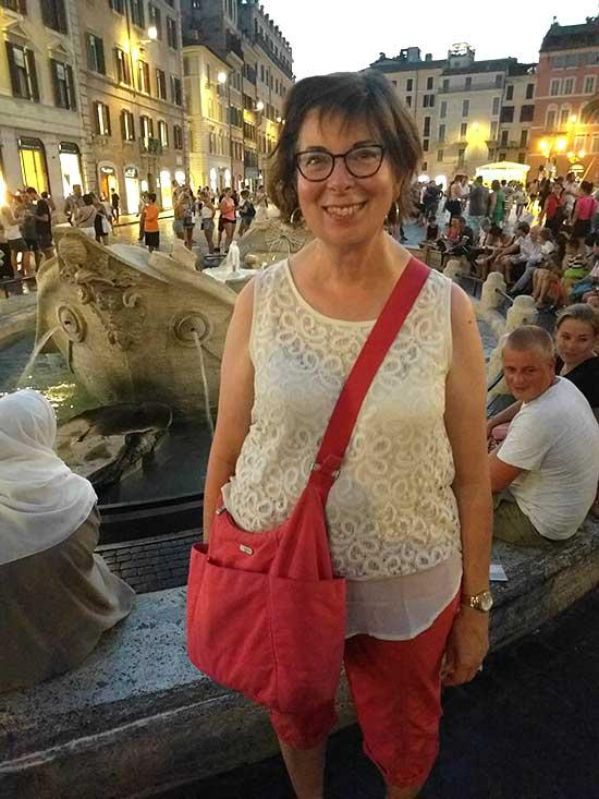 Judy Kahansky in Rome, Italy