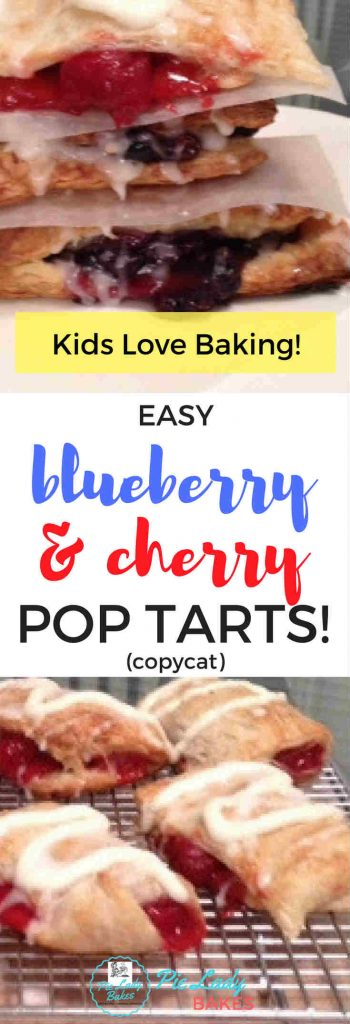 This easy hand pies recipe uses Frozen puff pastry, cherry and blueberry pie fillings and makes delicious and easy treats that kids can bake with you. Only 3 ingredients & easy on the budget!