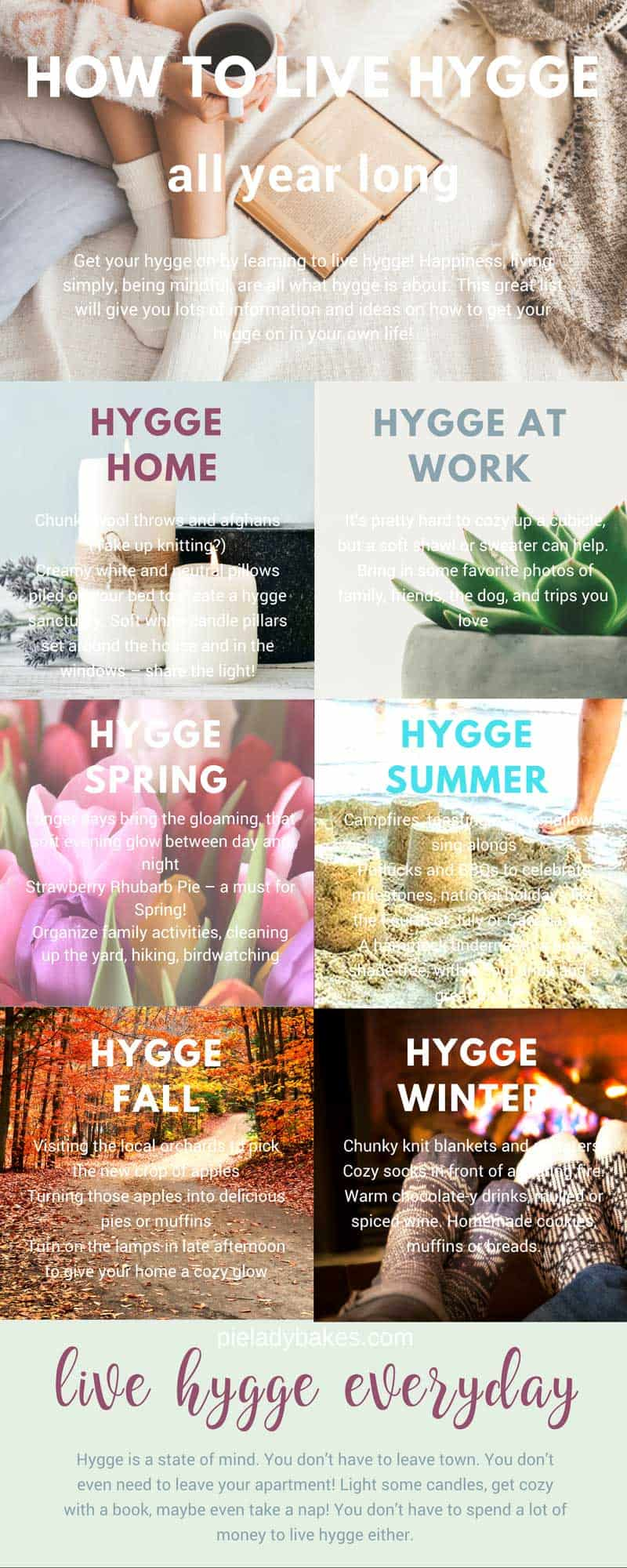 Create a happy home for you and your family with Hygge! Get your hygge on by learning to live hygge! Happiness, living simply, being mindful, are all what hygge is about.  This great list will give you lots of information and ideas on how to get your hygge on in your own life! #hygge #hyggelifestyle #youcanliverichonless.com #happiness #denmark #danishmeaning #hyggelit #hyggehome #hyggespring #hyggesummer #hyggefall #hyggewinter #hyggehomedecor