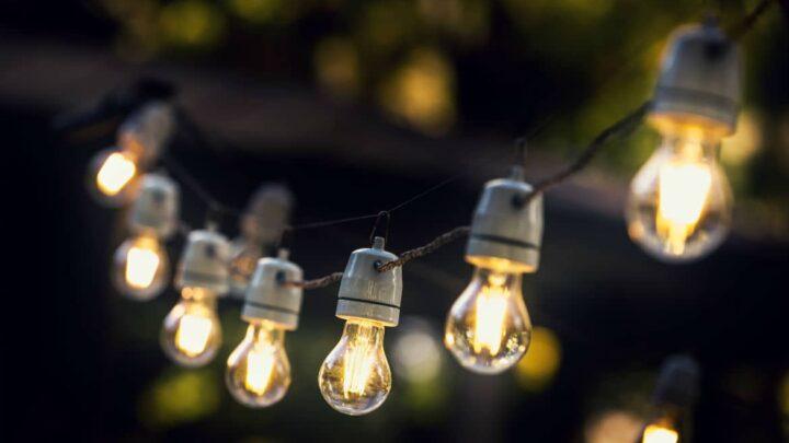 string of mini light bulb patio lights