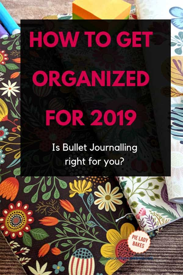 Will 2019 be the year you start bullet journaling? Everything you need to learn about this amazing organizational tool, videos, the basics to get started and a free ebook! #bulletjournal #2019 #2019planner #personaldevelopment