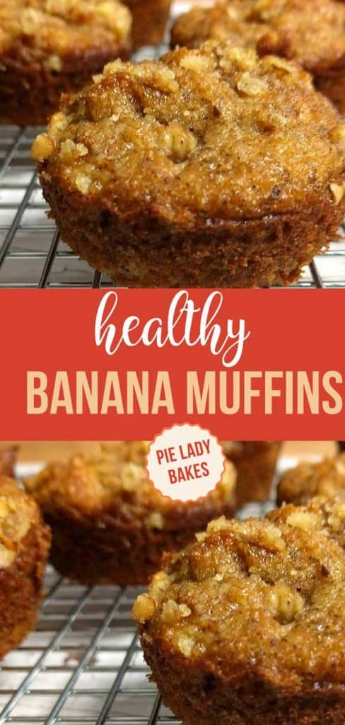 paleo banana muffins on wire rack on white wood table top