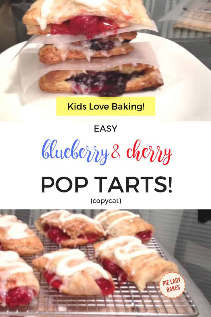 easy cherry and blueberry hand pies