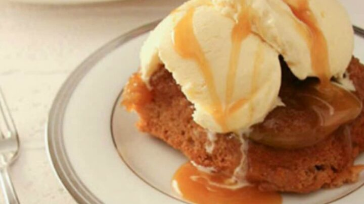 Upside Down Apple Cake Recipe is easy to make with BIG flavour. Baked Apples, brown sugar and cinnamon create a comfy, cozy dessert that's perfect anytime!