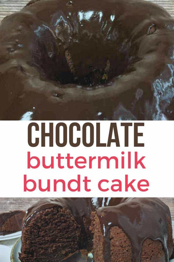 This Chocolate Buttermilk Bundt Cake is BIG on flavour and short on prep time. The recipe makes a large Bundt cake big enough to feed a crowd! #buttermilkchocolatebundtcake #easychocolatecakerecipe #youcanliverichonless.com #chocolatebundtcakerecipes #onebowlscratchcakerecipes #chocolatebuttermilkbundtcake #chocolatecake #chocolate #bundtcake #easydessertrecipes