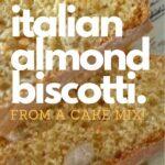 italian almond biscotti on a green plate