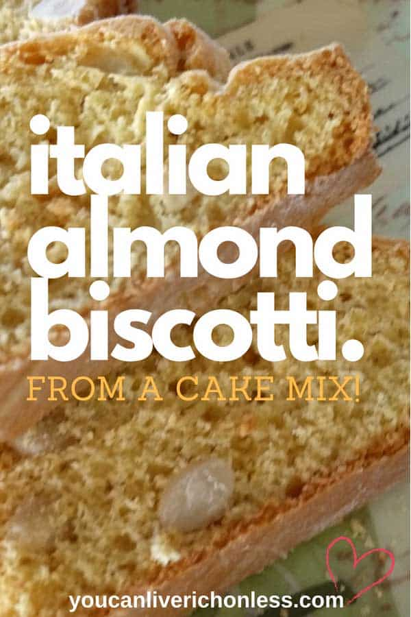 italian almond biscotti on a green plate