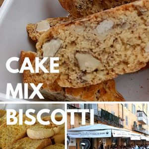 pictures of italian almond biscotti, cake mix biscotti and piazza navone in rome