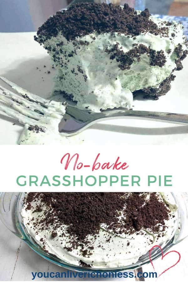 This scrumptiously super EASY no bake grasshopper pie is so light and fluffy – full of delicious Cool Whip, cream cheese, Oreos and Crème de Menthe! With a smooth minty chocolate-y taste, folks will ask for seconds. Think mint chocolate chip ice cream! #cremedementhe, #chocolate #sweettreats #Pioneeerwoman, #frozen #oreo #classic #coolwhip