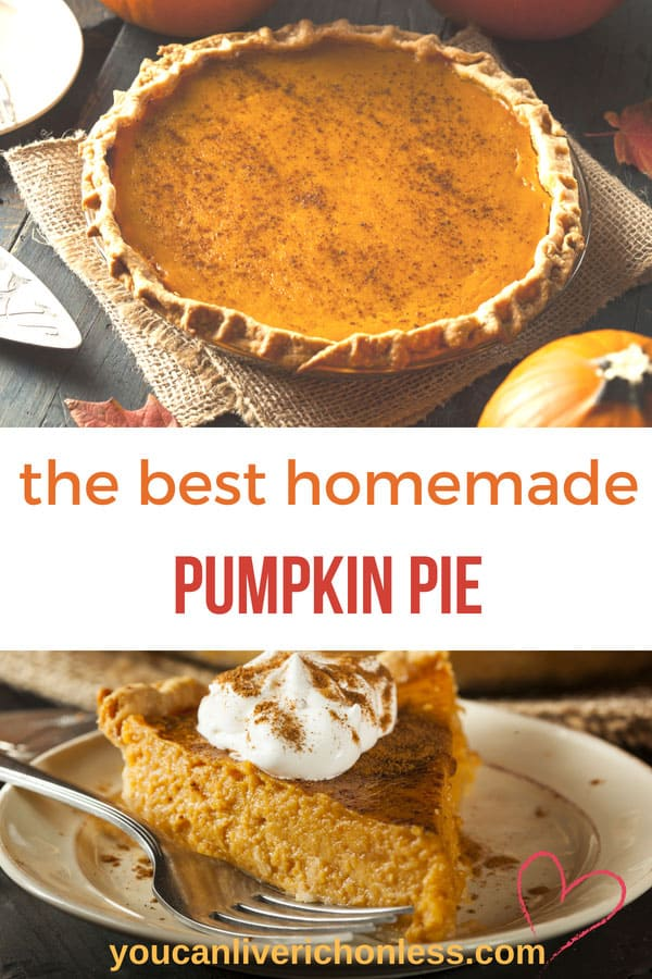 Easy Homemade Pumpkin Pie Recipe you can make from scratch for Breakfast, Lunch & Dinner! This homemade Pumpkin Pie Recipe is BIG on flavour! It's a Winner! #pumpkin #pumpkinpie #libbyspumpkinpie #homemadepumpkinpie #thanksgiving #pumpkin #pie #piecrust #youcanliverichonless.com