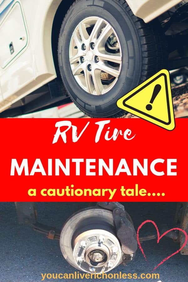 two pictures of RV Tires and importance of RV tire maintenance