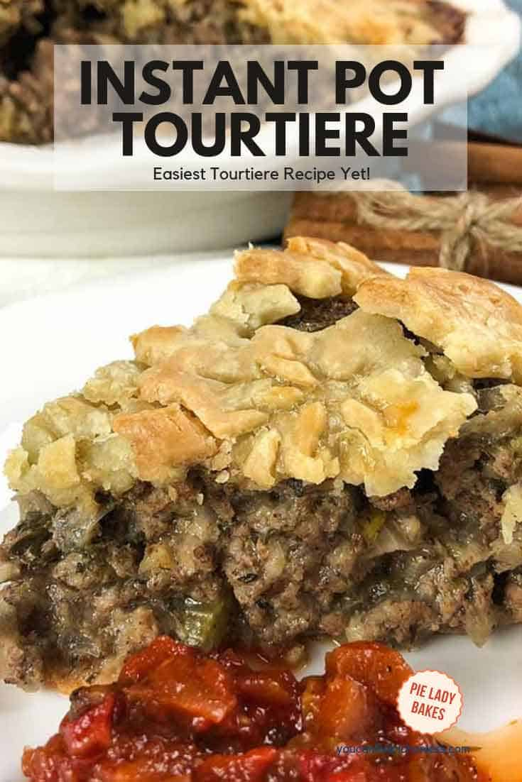 This is the most delicious tourtière recipe! I like to have a few of these savory meat pies in the freezer for those days you just don't have time to cook. #tourtiere #meatpie #perfectpiecrust #frenchcanadiantourtiere, #homemadetourtiere, #homemademeatpie