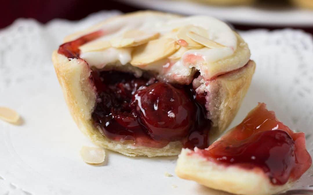 Cranberry Cherry Tarts With Almond Glaze