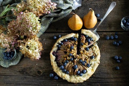 Rustic Pear & Blueberry Galette