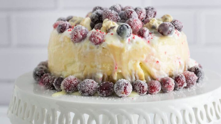 White Chocolate Cheesecake With Cranberries Instant Pot