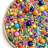Happy Birthday Sprinkle Medley | Baking Sprinkles | Rainbow Jimmies | Edible Sprinkles | Jimmies | (7 ounce bag)