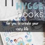 the little book of hygge on a white table with grey yard and text reads 11 best hygge books for you to create your cozy life