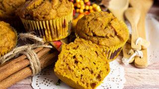 pumpkin muffins ready to eat