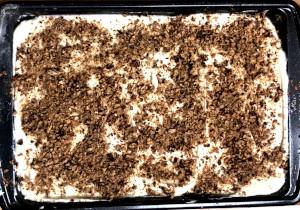 easy carrot cake sprinkled pecans on top