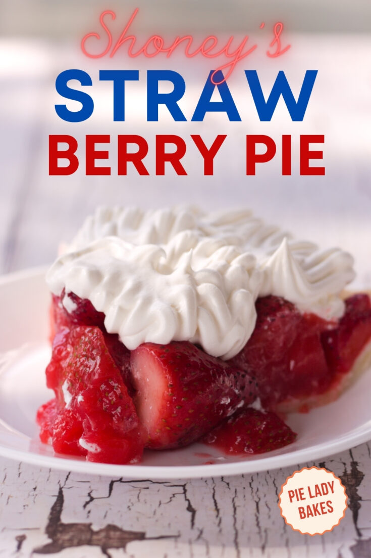 Strawberry pie with whipped cream on white plate