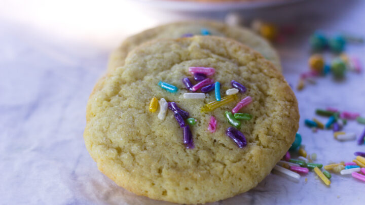 soft sugar cookies with sprinkles feature
