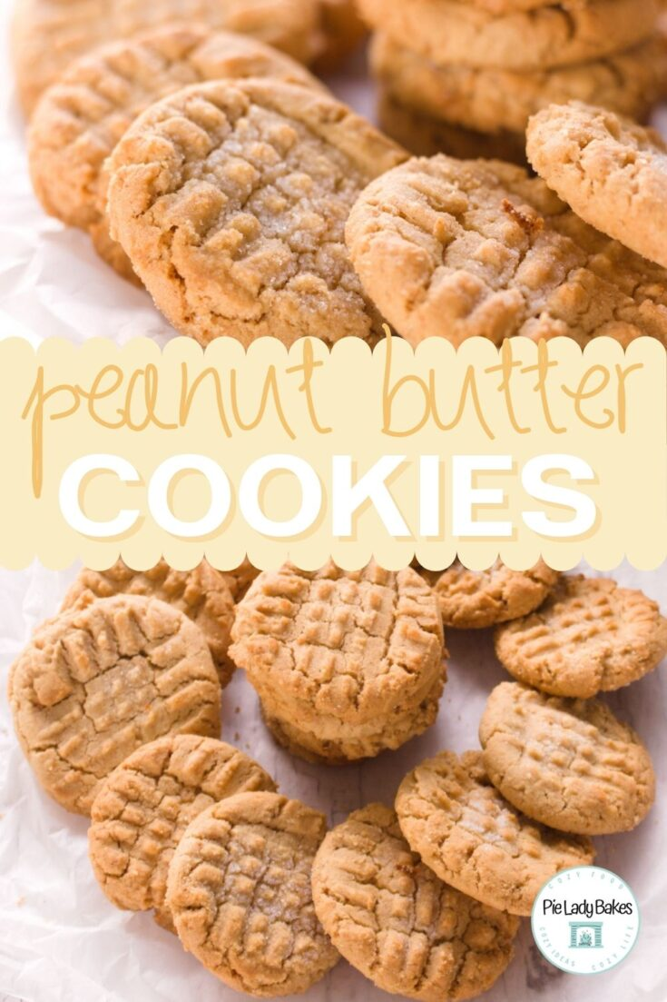 two images of plates of homemade peanut butter cookies