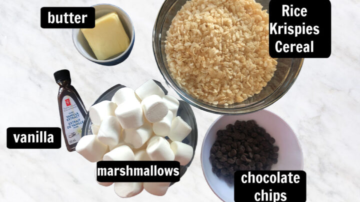 ingredients for rice krispie treats with chocolate chips recipe